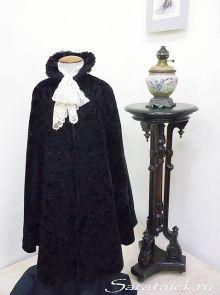 Тальма (плюш, газ, атлас, вышивка сутажом и бисером; Россия, конец 19-го века)